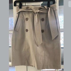 Anne Taylor Petite Pencil Skirt Khaki Sz: 4 Petite